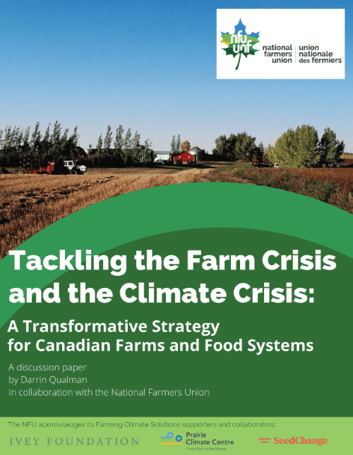 Cover of Tackling the Farm Crisis and the Climate Crisis by Darrin Qualman